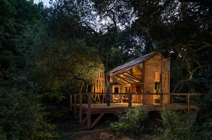 Carlsberg Cabin at night